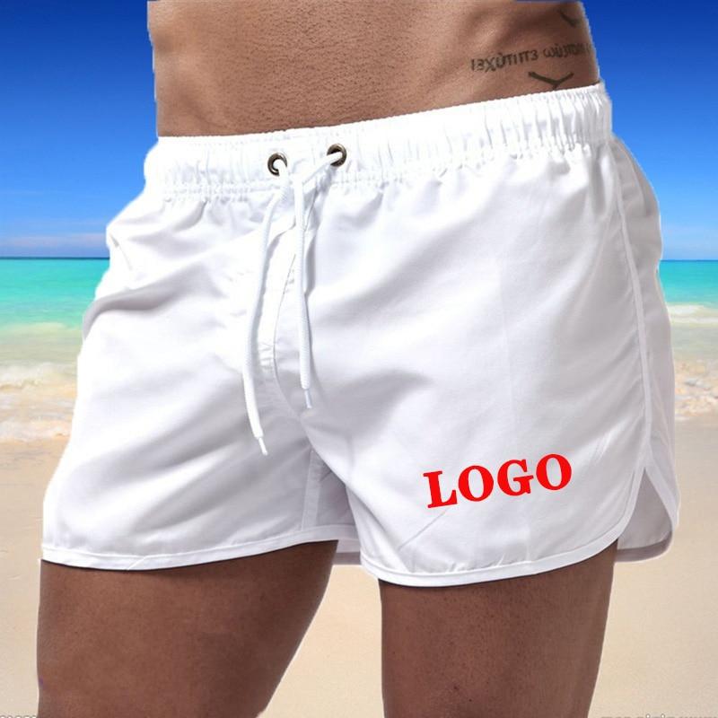 Men's Beach Shorts Swimming Board Surfing Sport Men Swimwear Running Sports Shorts Custom Your Logo