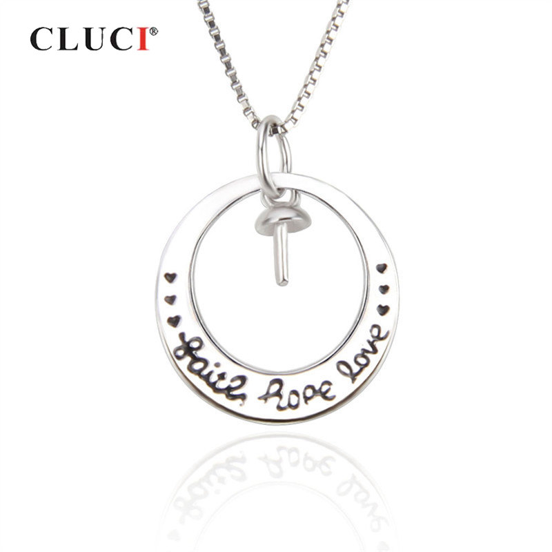 CLUCI 925 Sterling Silver Rope Love Pendant For Women Valentine Gift Real Silver 925 Charms Pendant Jewelry