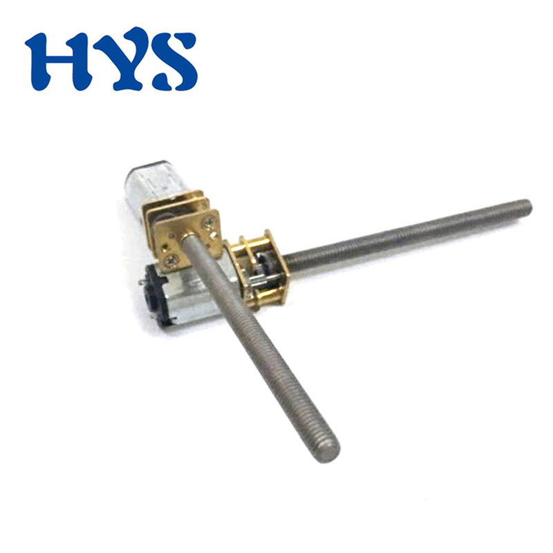 HYS DC 3V 6V 12V Gear Mini Motor Shaft Screw Thread <font><b>M3</b></font> <font><b>55mm</b></font> Metal Electric Reducer Motor 12 Volt V DC Micro Motors Reversie N20 image