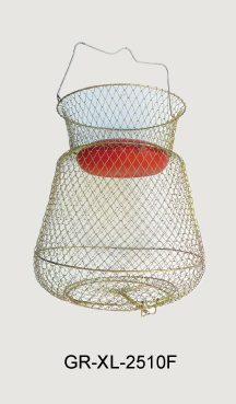 A Large Amount Angling Buoy Iron Fish Basket Folding Circle Steel Wire Iron Fish Basket Fishing Gear Supplies