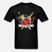 Мужская футболка с принтом, хлопковая Футболка с круглым вырезом, красный d20, женская футболка с коротким рукавом