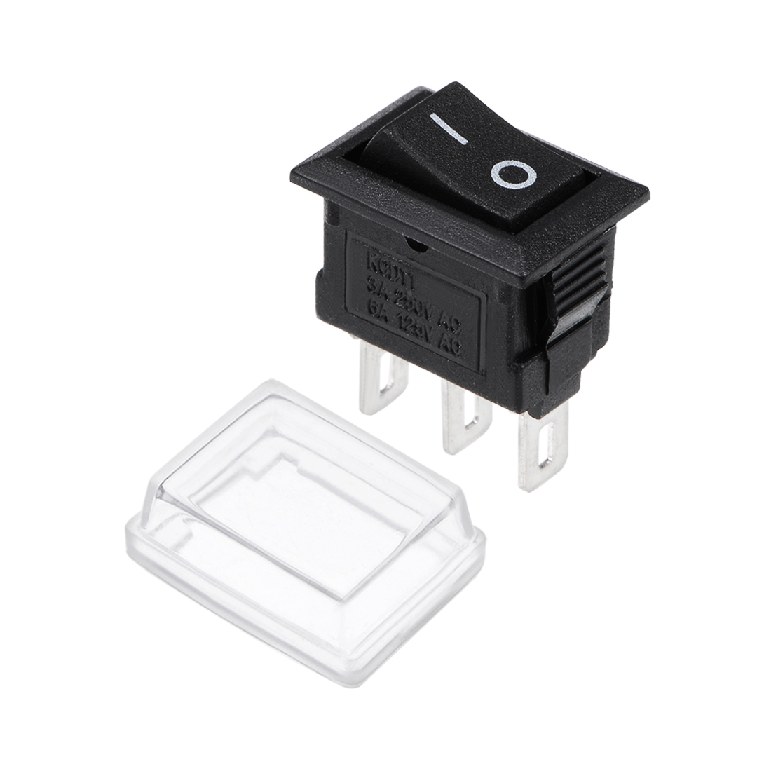 uxcell 20 pcs x Red Button 2 Pole SPST ON-OFF Mini Boat Rocker Switch 10A//125V 6A//250V AC
