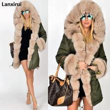 Plus Size S-5XL Winter Jacket Coat 2020 New Fashion Women Hooded Overcoat Faux Fur Cotton Fleece Fem