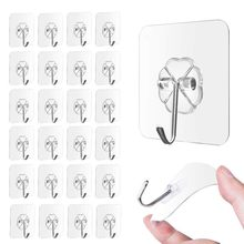 Strong Transparent Self Adhesive Door Wall Hangers Suction Cup Sucker Wall Hooks Hanger for Kitchen Bathroom Accessories(China)