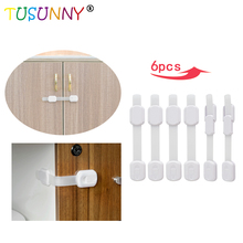 TUSUNNY Magnetic Children Safety Drawer Lock Limiter Infant 6 Pcs Baby Latch Cabinet Protection Security Invisible Locks
