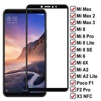 9D Vetro di Protezione Per Xiaomi Mi max 2 3 Poco F1 F2 Pro X3 NFC Protezione Dello Schermo Su Mi 6 6X A2 8 Lite Mi8 SE Temperato Pellicola di Vetro