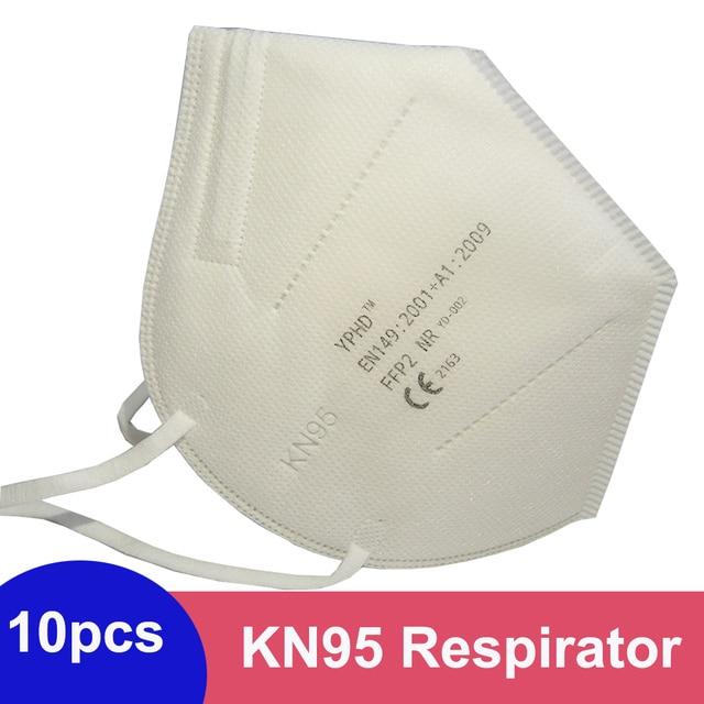 10/5pcs Reusable Mask FFP2 KN95 Face Mask Respirator Anti Dust PM2.5 Protective Anti Pollution FFP2 KN95 Face Masks Filter