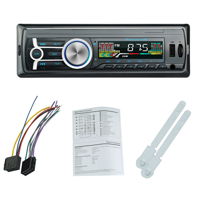 1Din Car MP3 Player Bluetooth Hands-free FM Radio W// Remote Control USB Charger