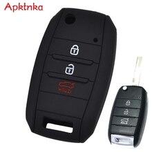 Apktnka Silicone Car Remote Key Cover For Kia Carens Ceed Sorento Optima Rio Soul Cerato Rando Forte Sportage Key Fob Case