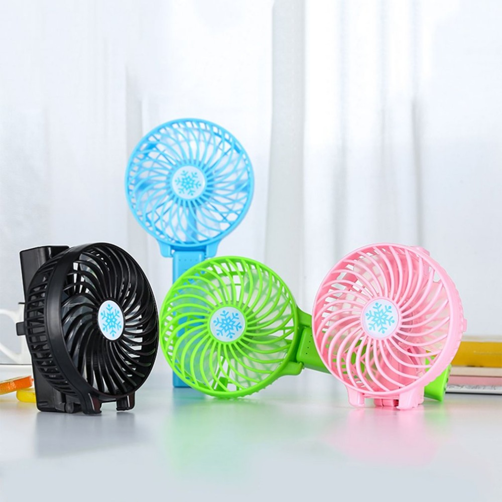 Mini USB Rechargeable Foldable Fan 3 Speed Adjustable Handheld FanPortable Hand Fan Cooler Cooling Fan For Outdoor Travel