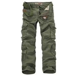 Image 1 - Брюки карго мужские в стиле милитари, Модные свободные тактические штаны, уличные повседневные хлопковые брюки карго с несколькими карманами, большие размеры