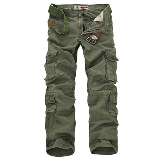 Брюки карго мужские в стиле милитари, Модные свободные тактические штаны, уличные повседневные хлопковые брюки карго с несколькими карманами, большие размеры