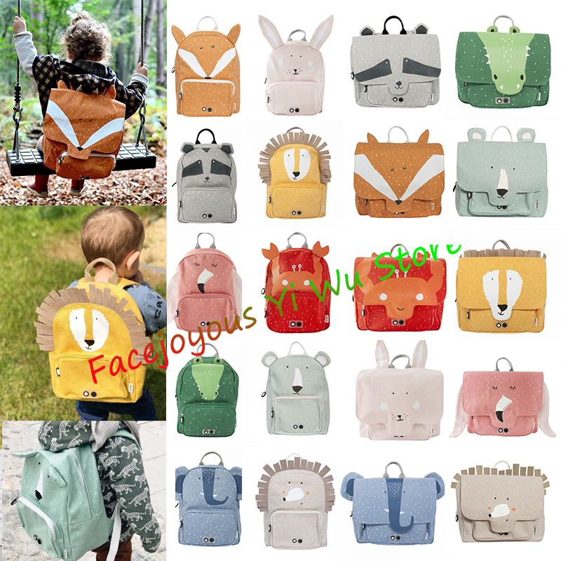 Fashion Boys Schoolbag Female Students Trixie Backpack Kids School Bags For Teenage Toddler Girls Gray Backpacks Mochila Escolar