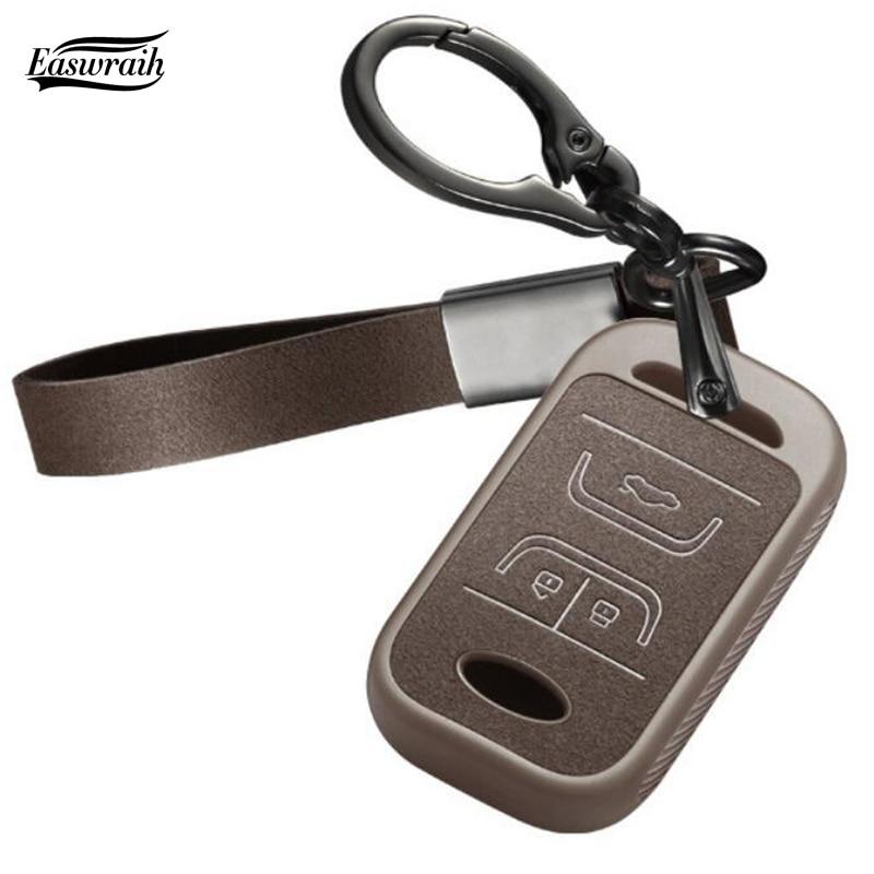 Leather Car Key Case For Chery Tiggo 8 5 ARRIZO 7 Tiggo 3 E3 E5 5X ARRIZO 3 7 Key Holder Cover Accessories(China)
