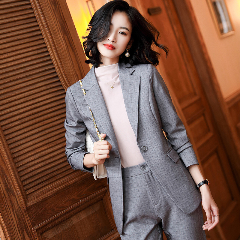 2020 new professional plus size women's jacket Female Blazer Autumn and winter high quality slim ladies suit Casual trousers