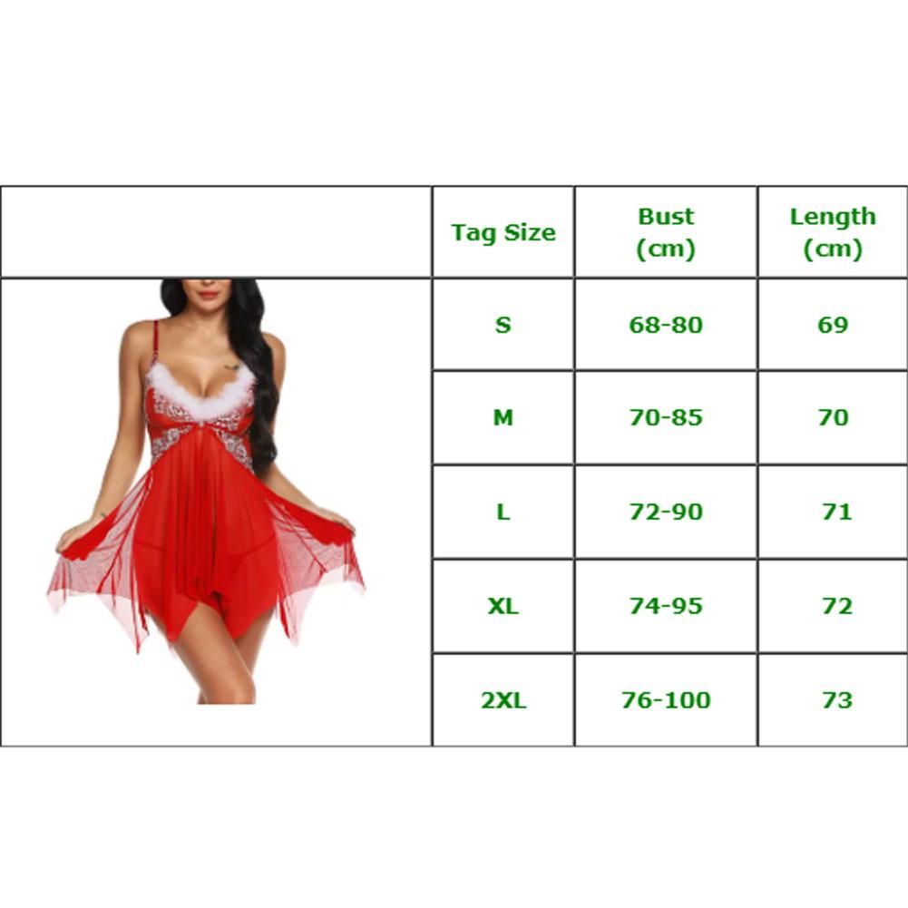 Рождественское нижнее белье, женское сексуальное нижнее белье, красное платье Babydoll, одежда для сна, костюм, Новинка 14
