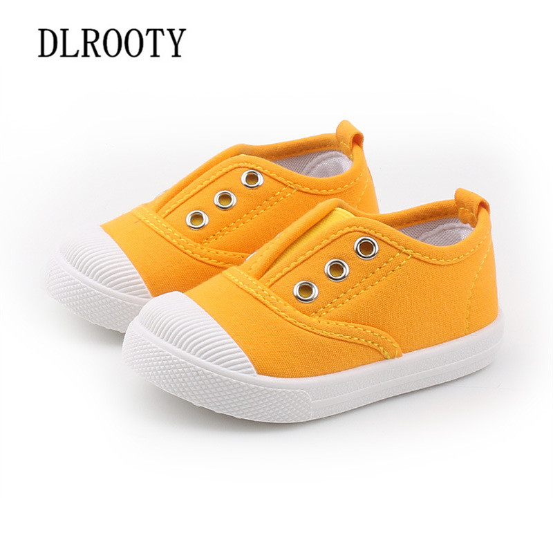 Canvas Children Shoes Sport Breathable Elastic Band Boy Girl Sneakers Kids Casual Child Flat Soft Running Autumn Spring