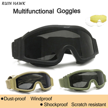 Shooting-Glasses Airsoft-Goggles Paintball Army Motorcycle Tactical Wargame Military