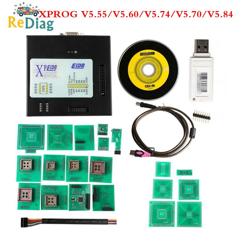 Newest <font><b>XPROG</b></font> <font><b>5.84</b></font> Firmware Add More Authorization Black Metal Box <font><b>XPROG</b></font>-M V5.55 V5.70 V5.74 V5.84 X-PROG V5.84 image