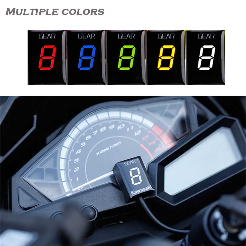 Gear Display Indicator Voor Kawasaki ER6N Z1000SX Ninja300 Z1000 Z800 Z750 Versys 650 Z400 Motorfiets Ecu Direct Mount 1-6 Speed