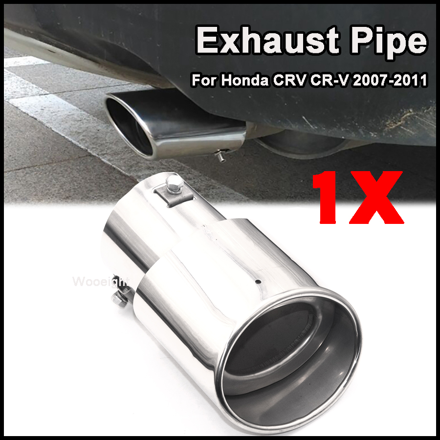 STAINLESS STEEL EXHAUST TAIL REAR MUFFLER TIP PIPE End Pipes ...