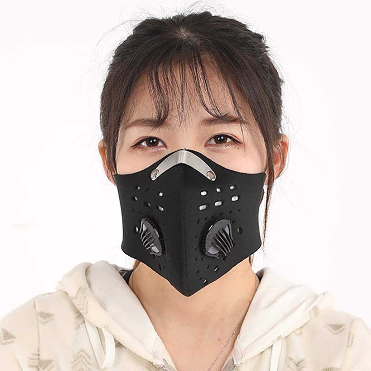 In Stock 5 Carbon Filter Non-disposable Mask Anti Virus/Dust/PM2.5/Fog/Haze Mask Bacteria Proof Mask Personal Mouth Protective