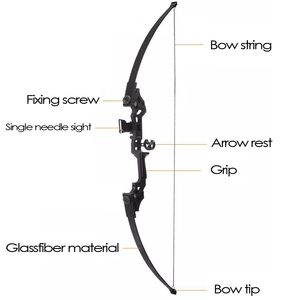 Image 3 - For starter 40lbs fishing bow aluminum recurve long bow straight bow