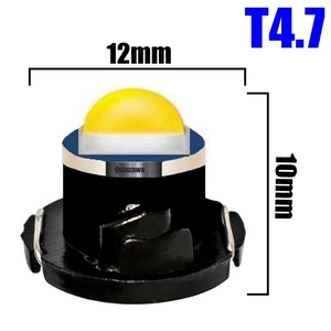 Image 4 - 100pcs T3 T4.2 T4.7 Cree Chip LED Bulb Car Dashboard Warning Indicator Light Instrument Cluster Lamp white red blue yellow green