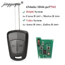jingyuqin 433Mhz ID46 pcf7941 Car Remote Key for Opel / Vauxhall Astra H 2004 2009 Zafira B 2005 2013 Corsa D 2007 2012 Meriva B