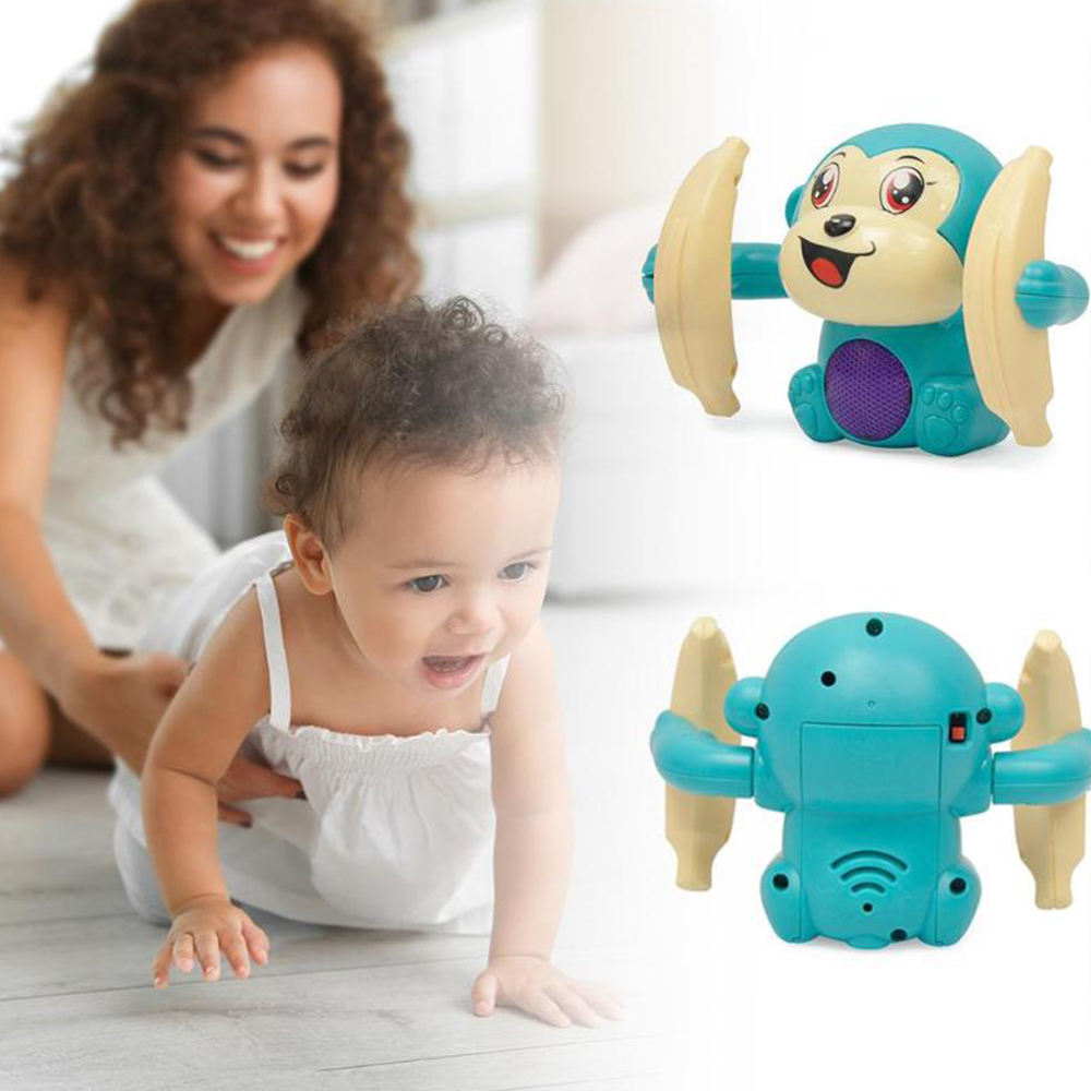 Fun Kids Toys Electric Rolling Doll Tumble Monkey Toy Voice Control Animal Modern Plastic Cartoon Educational Children Toys J71