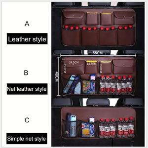 Image 5 - O SHI sac de rangement pour siège arrière de voiture en cuir PU