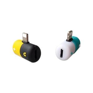 Image 4 - Connecteur Splitter Chargeur Audio Casque Adaptateur Portable 2 EN 1 Pour IPhone 6 7 8 plus X De Jack Écouteur Câble AUXILIAIRE