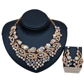 Luxury Crystal Rhinestone Multicolor Jewelry Set  6