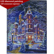 LED Light Full Round Drill 5D DIY Diamond Painting 30x40cm Home decoration birthday gifts drop shipping