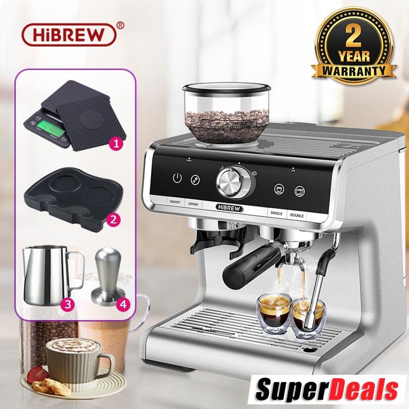 HiBREW  Barista Pro 19Bar Conical Burr Grinder Bean to Espresso  Commercial Level Espresso Maker Full Kit Cafe Hotel Restaurant 1