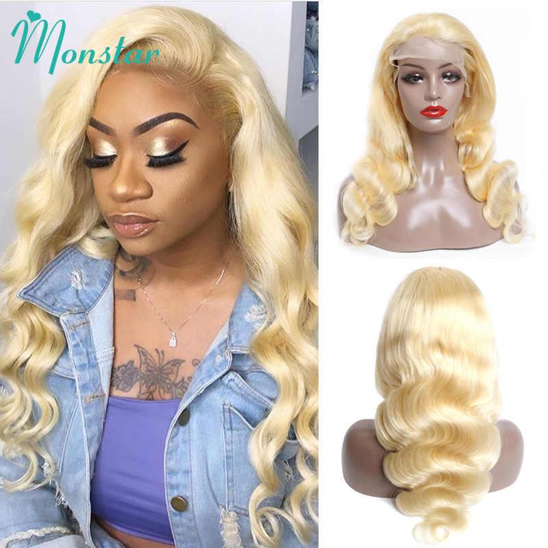 4x4 fermeture perruque 13x4 13x6 613 miel blond brésilien perruque Remy cheveux vague de corps perruque sans colle dentelle avant perruques de cheveux humains pour les femmes