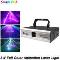 3W luce Laser di animazione a colori DMX512 20kpps scansione Stage Show pattern proiettore Laser per DJ Disco led Music Party Bar