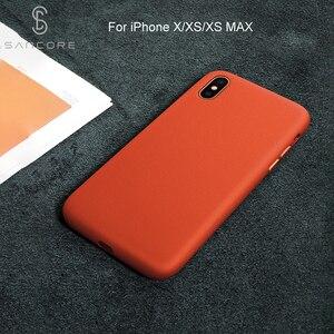Image 5 - SanCore für iPhone X Xs Max Telefon Fall Leder Mode cellphoneFull schutz NAPPA Business Premium Shell Luxus Rindsleder Mann
