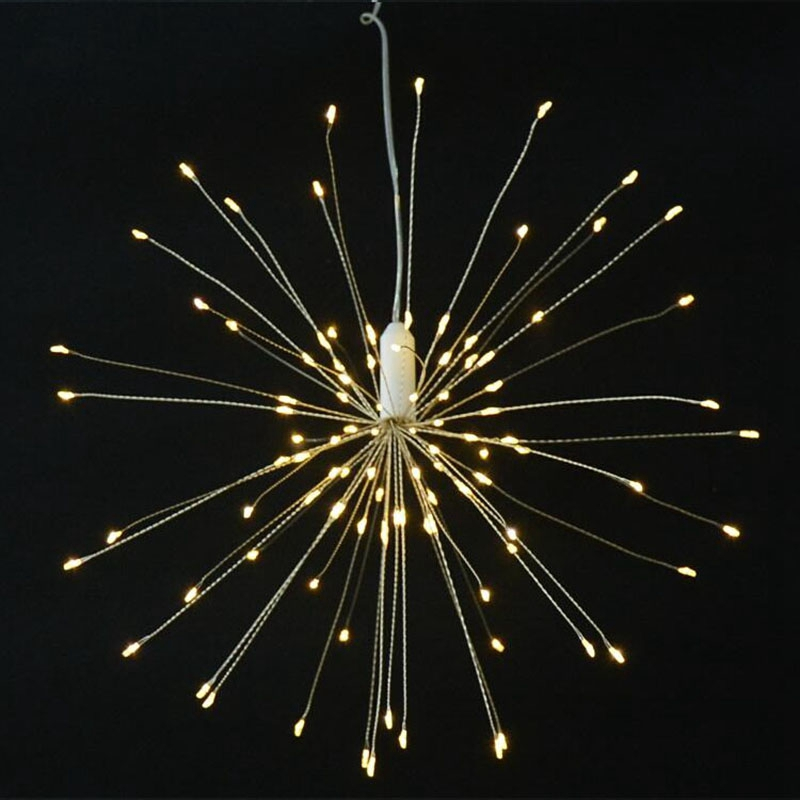 120 Led Christmas String Lights Waterproof Warm White Firework Light Copper Wire Christmas Wedding Party Garland Fairy Patio Lig