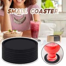 New Round Black Coaster Nonslip Cup Coaster Table Coaster Glasses pad bar Mat