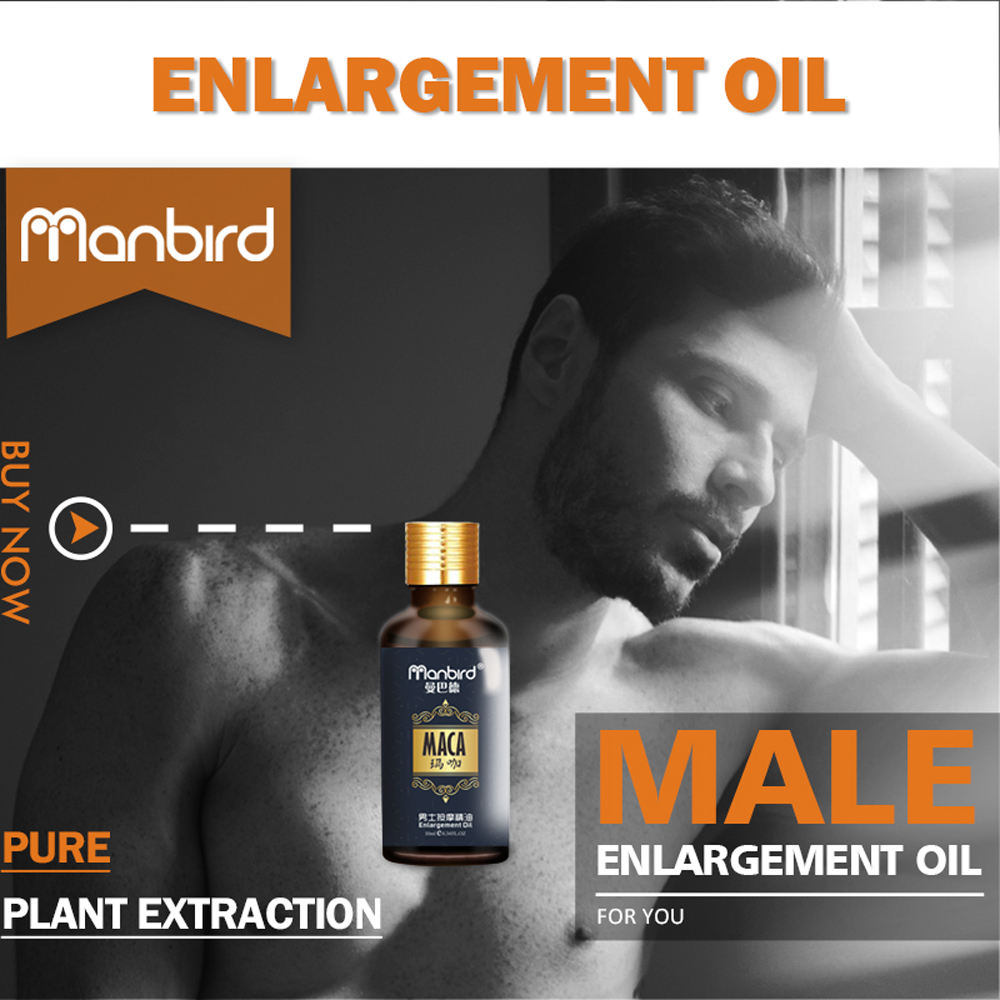 3Pcs Penis Enlargement Developed Sex Delay Essential Oil Dick Growth Thicken Stronger MACA Fast Effective Erection Lube for Men 1