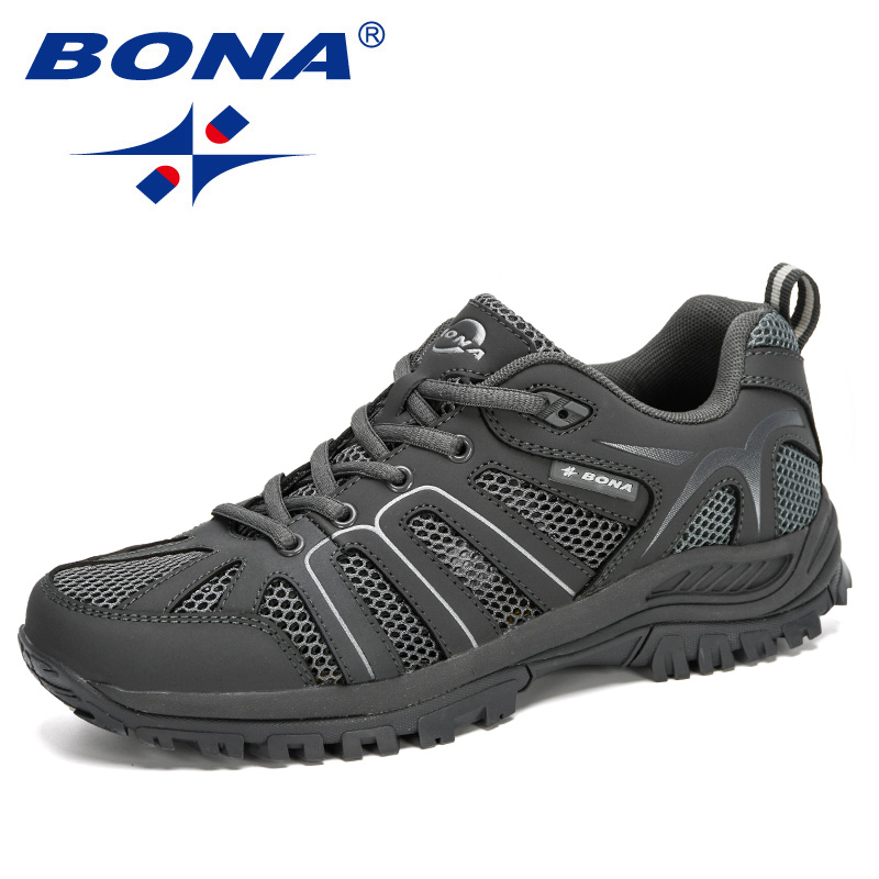 BONA 2020 New Designers Fashion Casual Shoes Men Outdoor Comfy Sneakers Man Non Slip Men Shoes Tenis Masculino Zapatillas Hombre