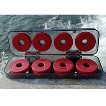 New 8/1Durable Red Foam Winding Board Fishing Line Wire Shaft Bobbin Spools Tackle Box Gift(China)