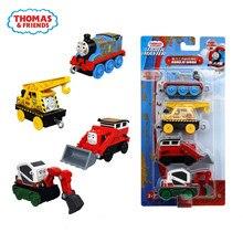 Tren de juguete Original de Thomas y sus amigos para niños, tren de juguete en miniatura moldeado a presión