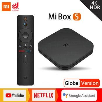 Xiaomi Mi TV Box S 4K Ultra HD Set Top Box Android TV 9.0 HDR 2G 8G WiFi Google Cast Netflix Smart TV Box 4 Media Player