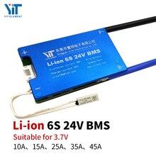 6 s 24 v bateria de lítio 3.7 v placa proteção de energia proteção temperatura equalização função proteção contra sobrecorrente bms pcb