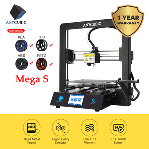 Image 1 - ANYCUBIC i3 Mega S 3D Printer Kit Upgrade i3 Mega Huge Build Volume Rack Rigid Metal Frame FDM 3d Printer impresora 3d Drucker