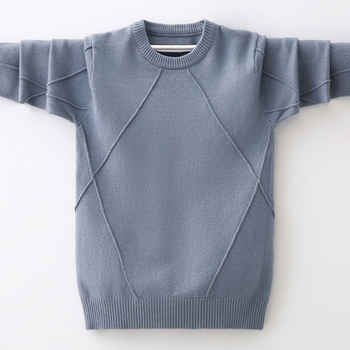 INS hot Boys sweater 4-13 years spring and autumn round neck sweater children's clothing Diamond stitching bottoming shirt - DISCOUNT ITEM  35% OFF All Category