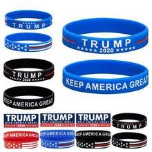 2 шт/компл trump keep america great 2020 силиконовый браслет