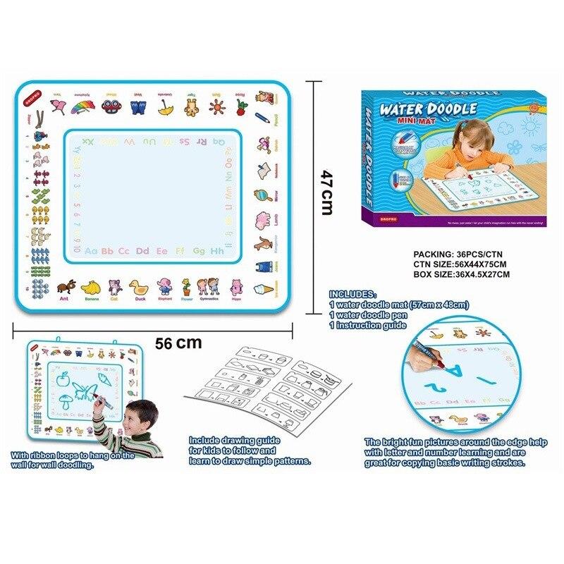 48X57 Kinderen Magic Vier Kleuren Water Canvas Huiswerk Deken Graffiti Baby Educatief Speelgoed Water Schilderen Board - 2